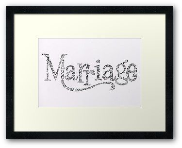 'Marriage Is' by BbArtworx, a compilation of words describing Marriage. Available as cards and wallart. A print of hand written typography on watercolour paper, by Nina Johnson - Artist/Owner at Blackboard Artworx.  wedding, marriage, anniversary, wedding card, anniversary card, bride, groom, typography, hand written, inspirational, i love you
