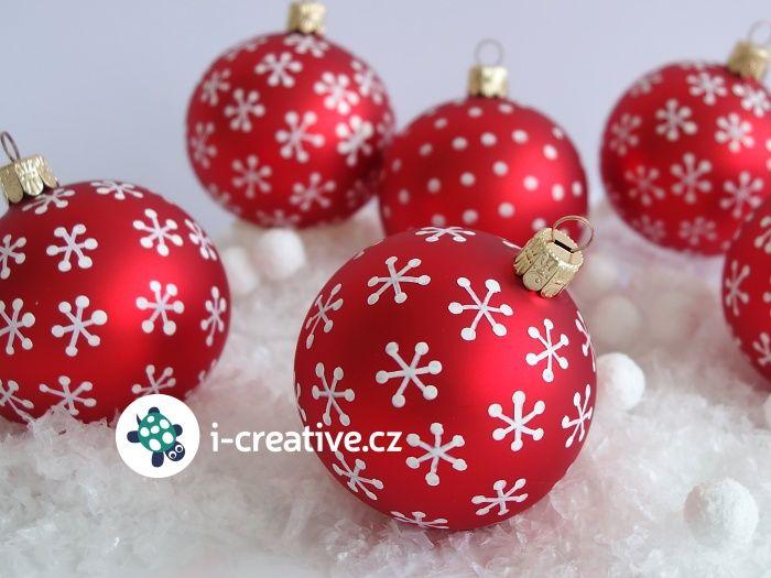 vánoční tvoření - kreslení na baňky