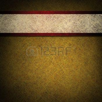 Золотой фон пергамента с красными и белыми ленты photo