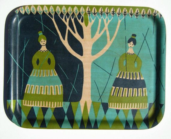 Swedish designed tray: Swedish Trays, Colors Combos, Plywood Trays Mad, Design Vintage, Coff Trays, Vintage Swedish, Vintage Coffee, Konga Trays, Design Trays