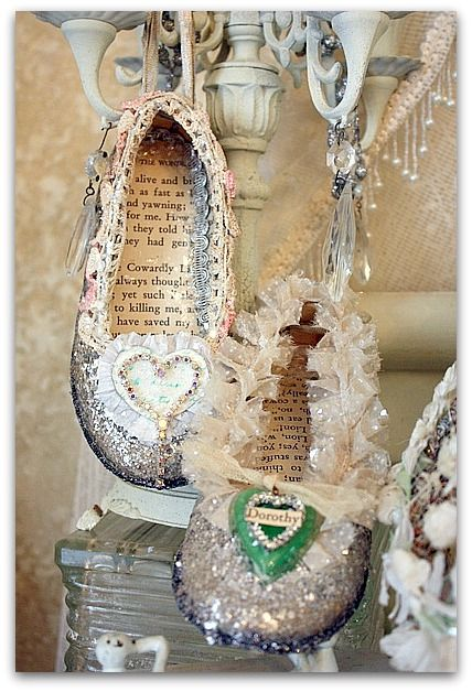 Fairy shoes...lovely project! Wonderful gift, as well...