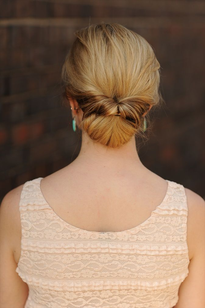 twisted chignon tutorial