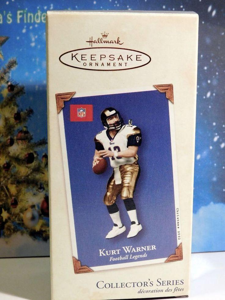 Kurt Warner Football Legends # 8 NFL Rams Hallmark Keepsake Ornament MIB 2002