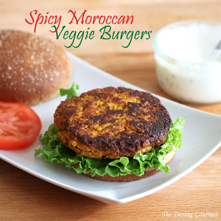 Spicy Moroccan Veggie Burgers (with millet, chickpeas, curry, apricots ...