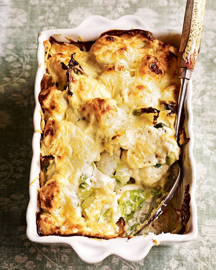 Creamy cauliflower cheese makes a wonderful addition to proper Sunday lunch. Debbie Major adds leeks to the creamy gratin for extra flavour and texture.