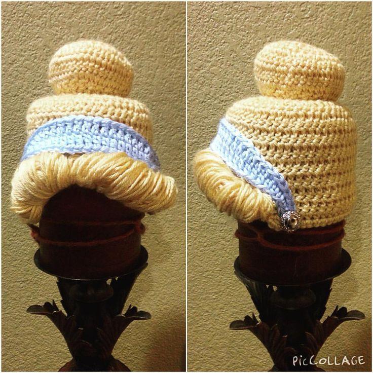 Cinderella princess crochet beanie hat made by sophia g.