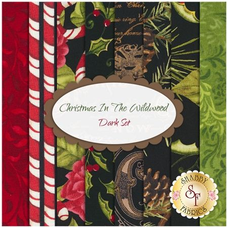 Christmas In The Wildwood 8 FQ Set - Dark Set by Nancy Minks for Wilmington Prints: Christmas In The Wildwood is a beautiful collection by Nancy Mink for Wilmington Prints. 100% Cotton. This set contains 8 fat quarters, each measuring approximately 18
