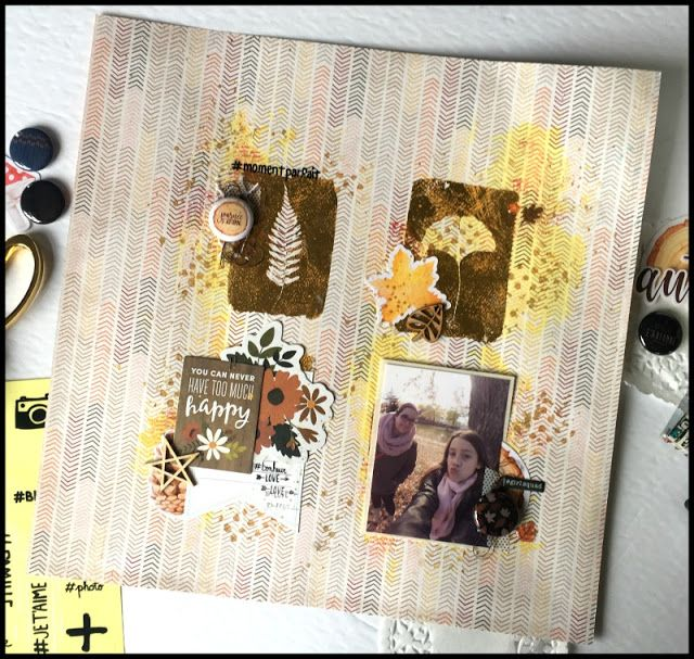 Accent Scrapbooking: You can never have too much happy par Caroliiine