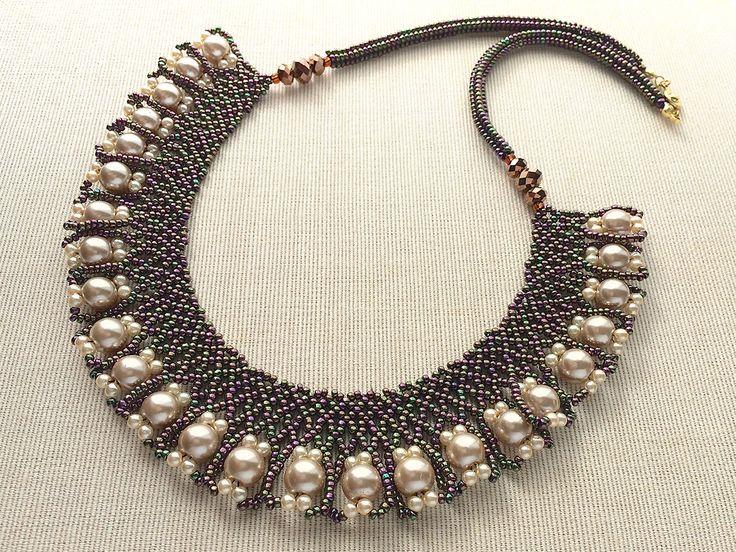 collar de perlas sueltas vino Tamamushi y Pearl