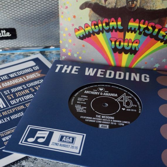 REAL Vinyl Record Wedding Invitations (can Also Be Adapted For Birthdays,  Or Other Occasions
