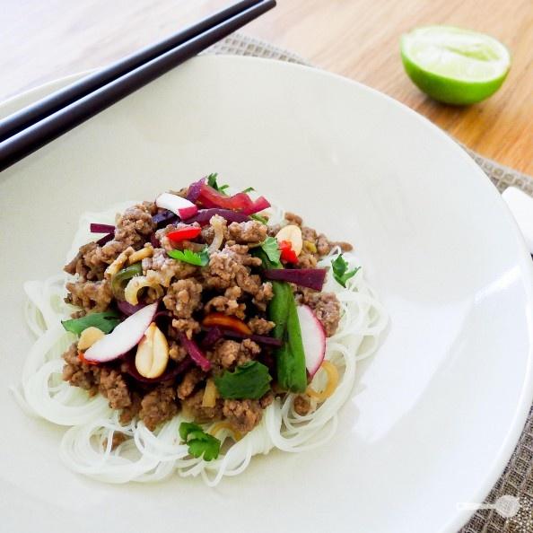 Taste Baguette's lemongrass beef noodle salad