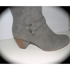 SIZE 7 (40) Last pair BIG Calf boots grey - soft rubber low heel. for R80.97
