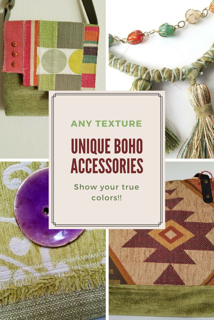 #bohoaccessories #bohemianbags #handmadewearableart  You're unique! Show your true colors with ANY Texture's one-of-a-kind handmade accessories!