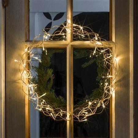 Konstsmide 2891-803 Gold Metal LED Wreath