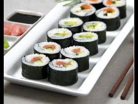 ¿Cómo preparar Sushi? Receta de cocina fácil y rápida para hacer rollos maki o sushi - YouTube