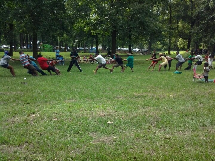 Tug of war at Chase Valley Park