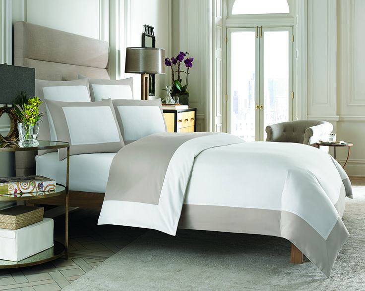 This beautifully designed bedding features a wide hotel frame border that offers a tailored, modern look. The duvet cover is also reversible, giving you multiple color options.