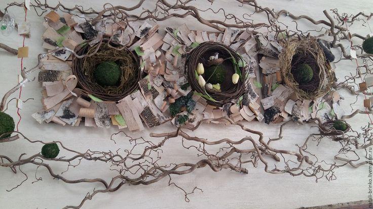 Купить Флористическое настенное оформление..Объект.Весна. - комбинированный, дизайн интерьера, флористика на стену
