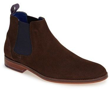 $250, Ted Baker London Camroon Chelsea Boot. Sold by Nordstrom. Click for more info: https://lookastic.com/men/shop_items/337799/redirect