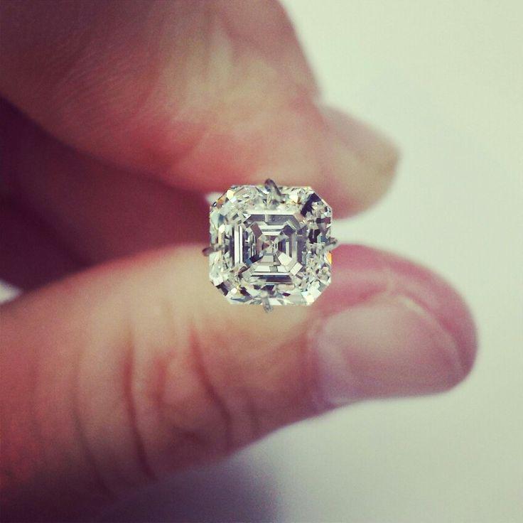 Exceptional assher cut diamond
