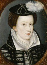 Mary Queen of Scots (1542-1587).  Related (through Margaret Tudor) to Edward VI, Mary I, and Elizabeth I