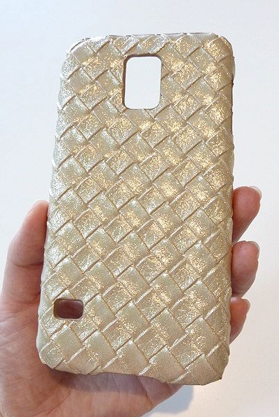 BEAUTIFUL Samsung Galaxy S 5 s5 i9600 Soft Shimmer Gold Woven Case by Yunikuna, $35.00