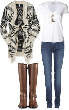 perfect winter outfit- I need a sweater like this and a cute white shirt!