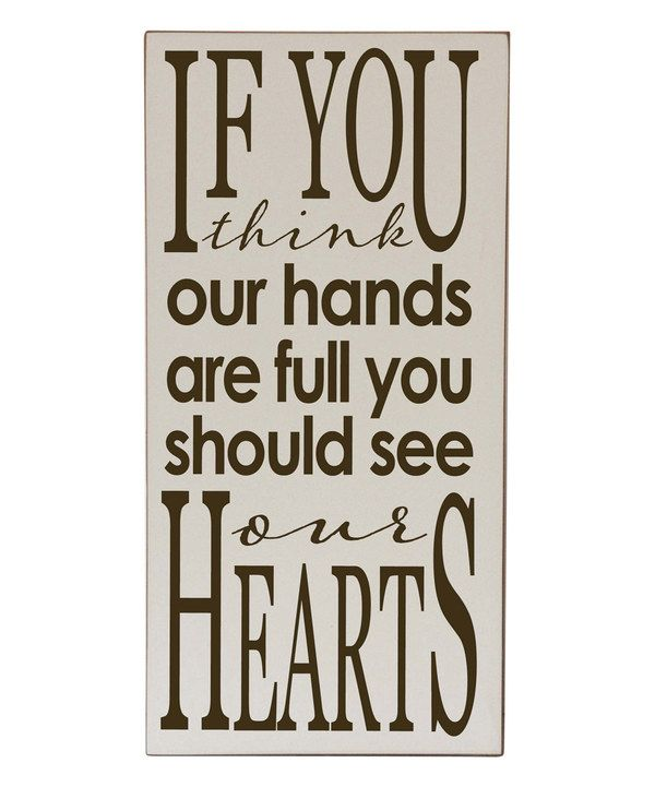 Look at this Vinyl Crafts Cream & Brown 'You Should See Our Hearts ' Wall Sign on #zulily today!