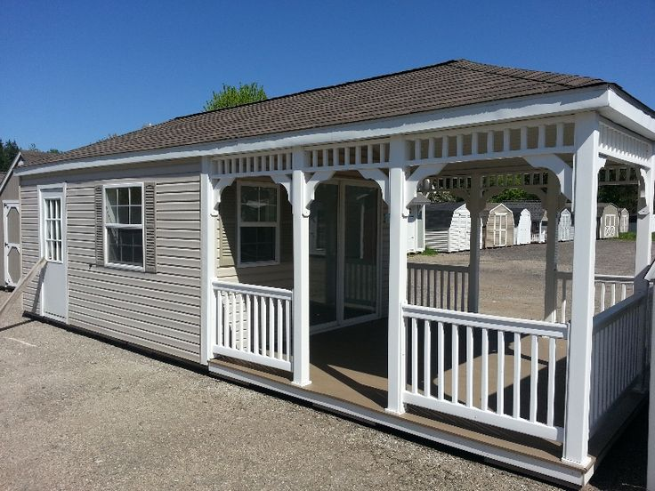 Movable Storage Buildings | 12x28 Vinyl Hip Barn Portable Storage Building