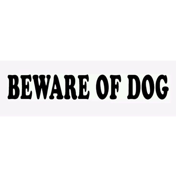 Wholesale 10pcs/lot 20pcs/lot Beware Of Dog Funny JDM Sticker Car Window Truck Bumper Laptop Kayak Motorcycle Cute Vinyl
