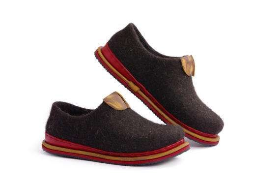 Felted shoes-summers felted shoes-minimalist shoes by VASlippers