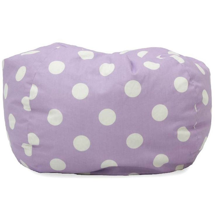 Transitional Bean Bag Seat Chair Polyester Candy Purple Polka Dot Kids Game Room #BeanSack