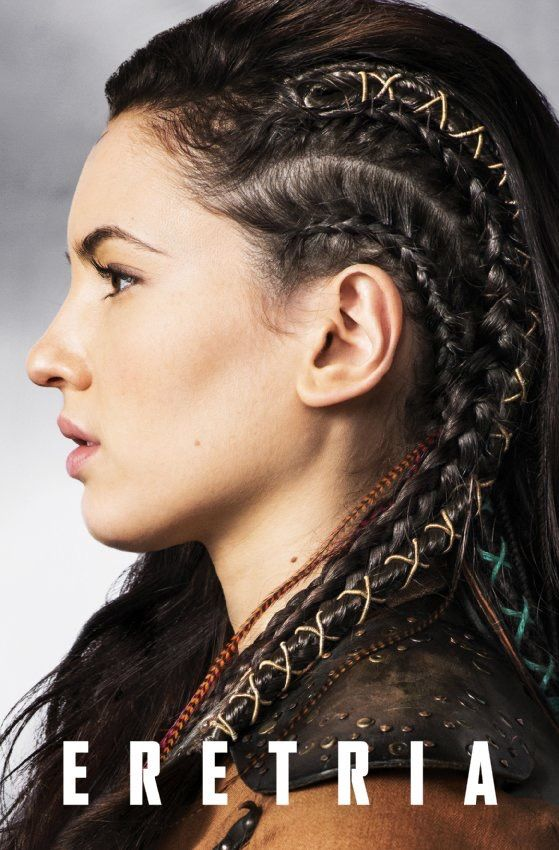 Eretria stitched braids feathers hair in The Shannara Chronicles