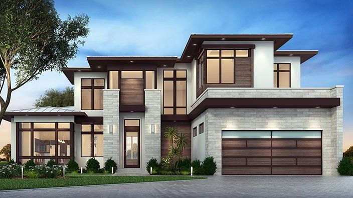 House Plan Chp 57111 In 2020 Modern Style House Plans House Designs Exterior Modern House Plan