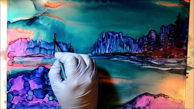 17 Best Images About Alcohol Ink Art Techniques And