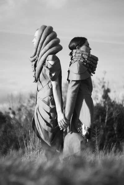 'Urban Outsiders' by Aga Stodolska is Eerily Beautiful #futuristic #menswear trendhunter.com