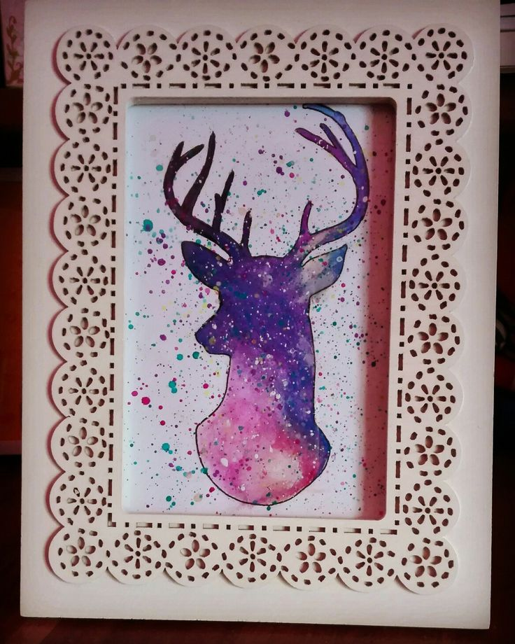 Cute deer #colors #combination #in #a #photoframe
