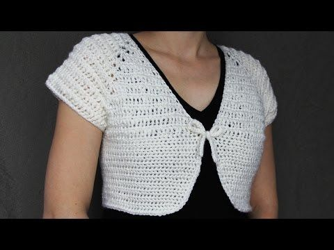 ▶ How to crochet a women's short top - video tutorial with detailed instruction - YouTube