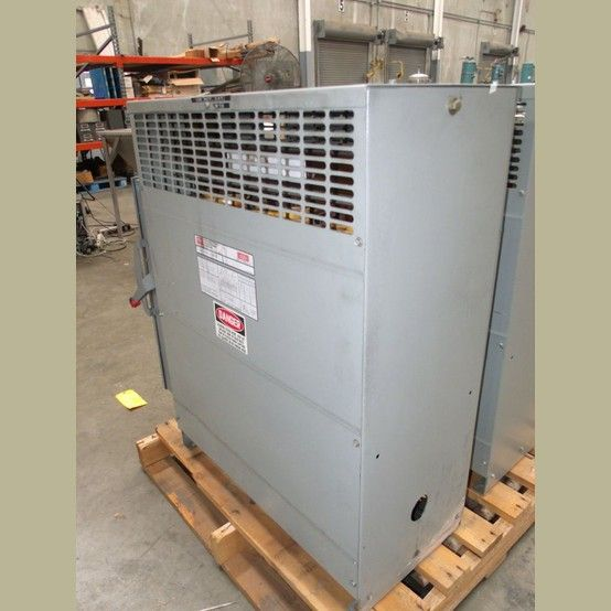 Cat No: FH93CFMD. HV: 460 (H). LV: 460Y/266 (X). Amps: 117.  Phase: 3. Hz: 60. Weight: 600lbs. Includes Square D 200 Amp Disconnect.  View more 93 kVA Transformers
