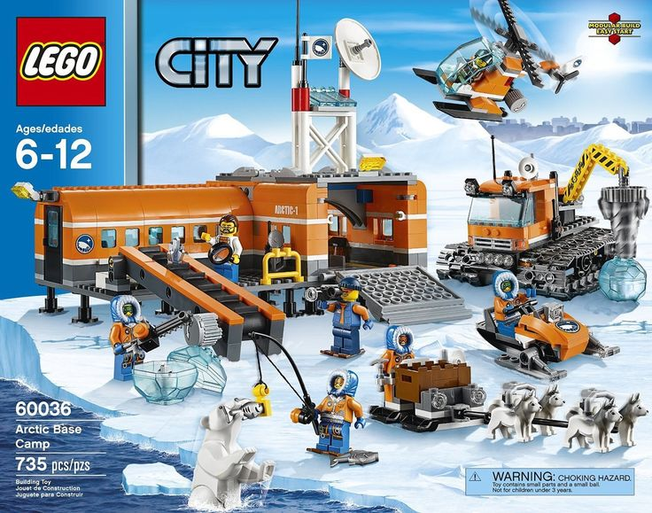 LEGO City Arctic Basecamp 60036 - Discount Toys USA.    The first big Lego set that Alexa completed, with a little help from Dad.