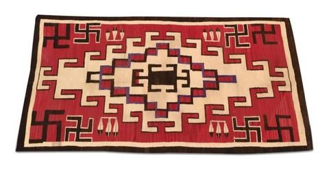 Native American, Historic J.B. Moore Navajo weaving/Textile/Rug, Ca 1920's, #1002