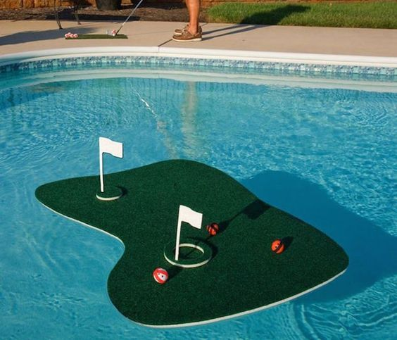 Playing golf on land will seem boring now once you enjoy a round on this Floating Aqua Golf Chipping Game. The set includes a floating putting green, 2 fla -- You can get more details by clicking on the image.