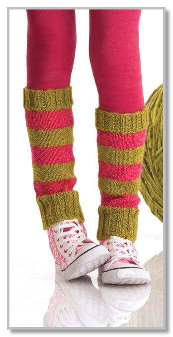 Вязание спицами. Полосатые высокие гетры. Размеры: взрослый/детский
