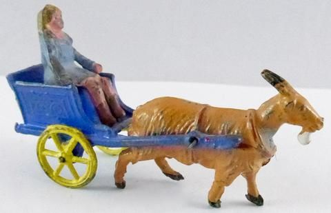 Charbens girl in goat cart, blue