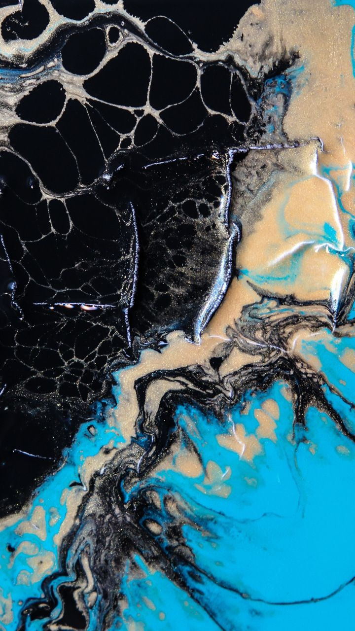Abstract Paint Teal Black Abstract 720x1280 Wallpaper Abstract Art Wallpaper Abstract Water Digital Art