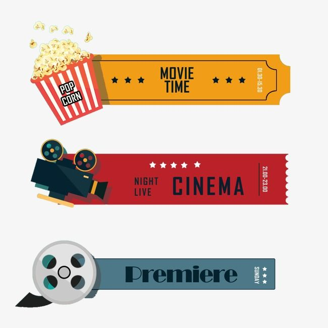 Retro Movie Tickets Cinema Idea Movie Clipart Movie Tickets