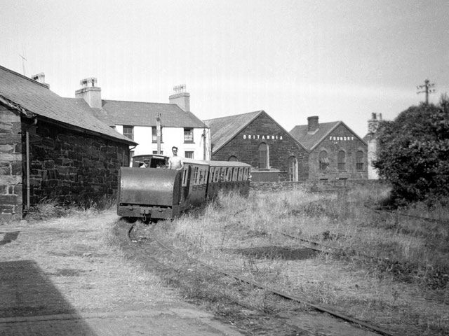 Porthmadog Harbour Station in 1955 - the effects of the years of neglect are clear to see.