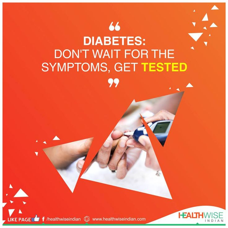 """India is known as the """"Diabetes Capital of the World"""" then why wait for the symptoms to start appearing, instead get tested!"""