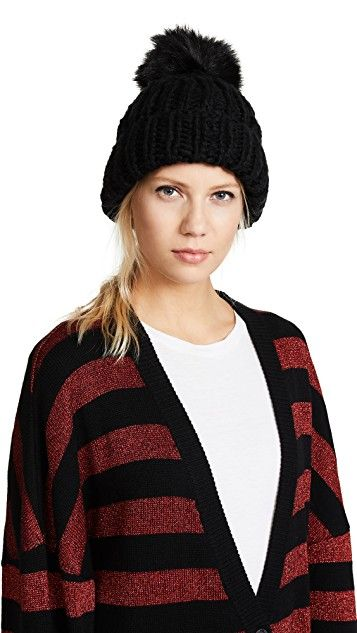 Free People Happy Trails Pom Beanie Hat | SHOPBOP
