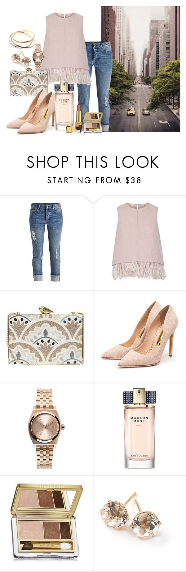 new york by sally-w on Polyvore featuring The 2nd Skin Co., Rupert Sanderson, KOTUR, Cartier, Nixon, Ippolita, Estée Lauder, women's clothing, women's fashion and women